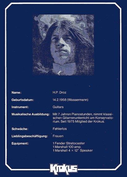Hansi Droz Bio