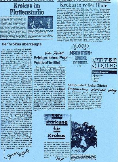 Press Clips KROKUS FIRST 1976
