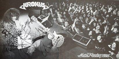 Krokus black & white album inset