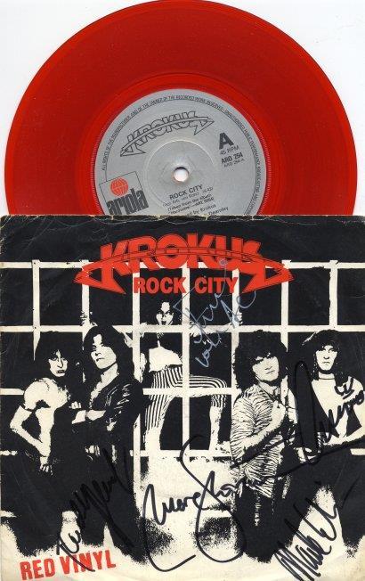 Red Vinyl single ROCK CITY