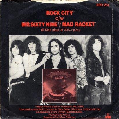 Back Cover 45 single ROCK CITY