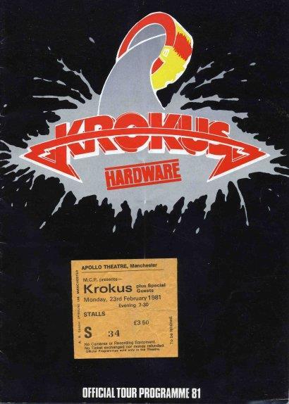 1981 Hardware Tour Programme