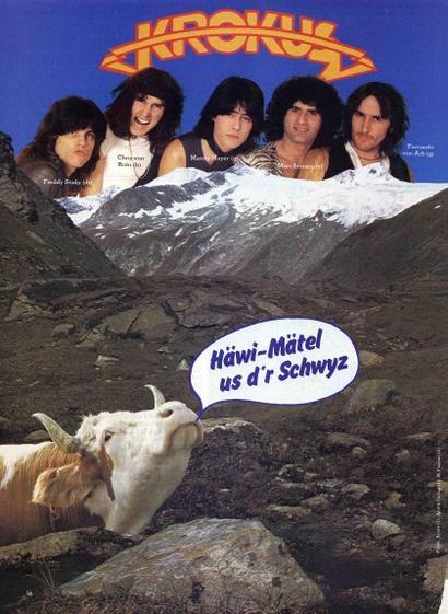Rocking Swiss Cow