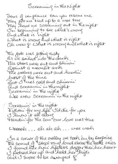 Screaming Lyrics