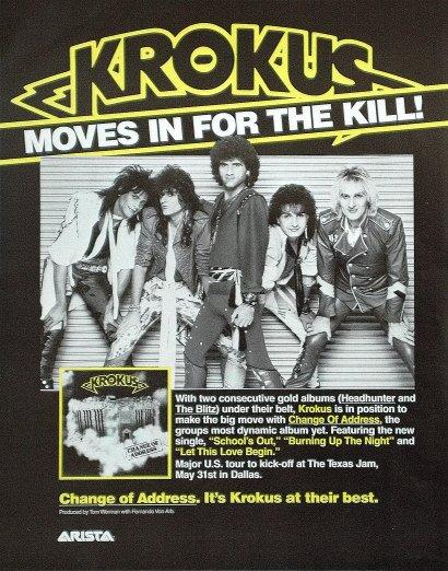 1986 change of address krokus official homepage for Us magazine address change