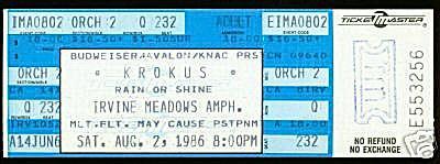 Concert Ticket Stub