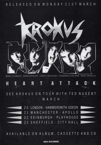 Krokus UK Magazine Ad 3-1988