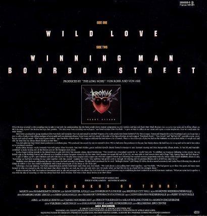 45 single 'Wild Love' back cover