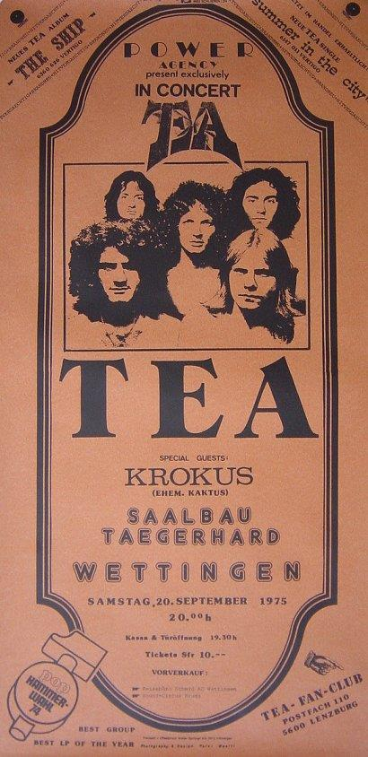 TEA Tour Poster With KROKUS As Support