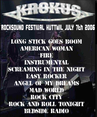 Huttwil Set List 7-7-2006