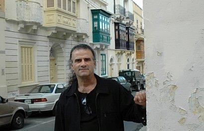 Marc Storace on the street he grew up in Malta