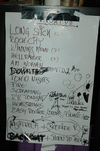 Song Set List Rehearsals