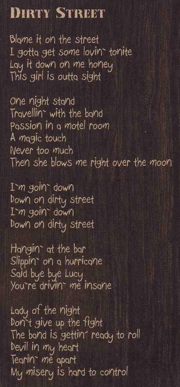 Dirty Street Lyrics