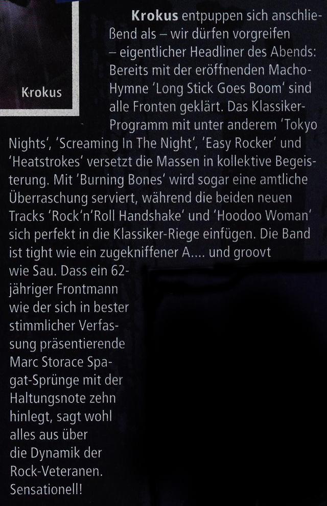 'Metal Hammer' Concert Review