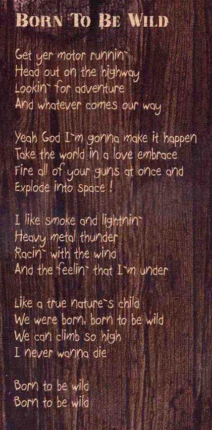 Born To Be Wild Lyrics