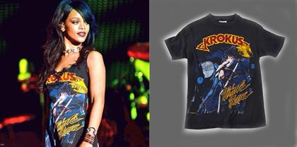 Krokus Midnite Maniac T-Shirt As Worn By Rihanna