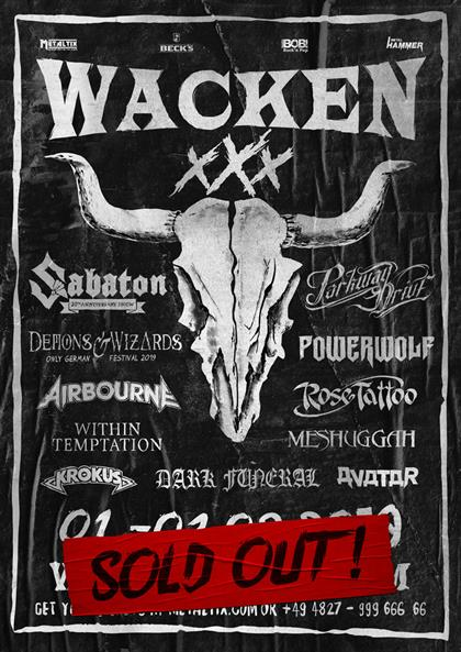 Wacken 2019 SOLD OUT