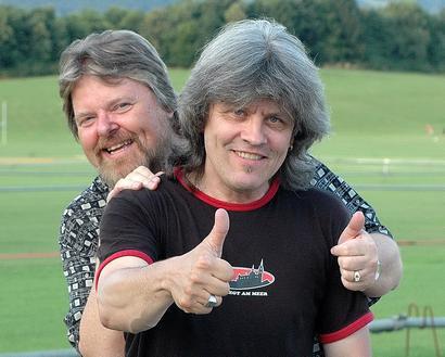 Freddy & Peter Outside 'Stade De Suisse' Bern
