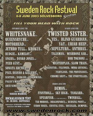 swedenrock festival 2003