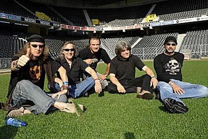 Krokus sitting on the grass of football greats